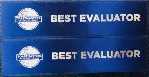 Toastmasters Best Evaluator